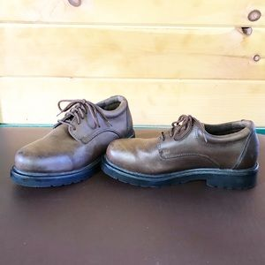 Earth shoe brown leather oxford 7.5
